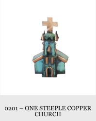 Steeple Copper Church