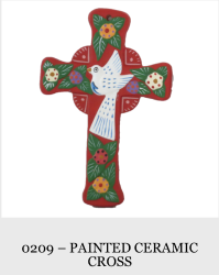 Painted Ceramic Cross