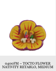 Tocto Flower Nativity Retablo (Medium)