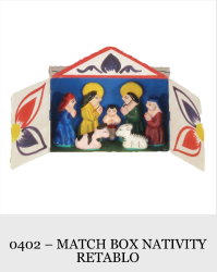1 Piece Match Box Nativity Retablo