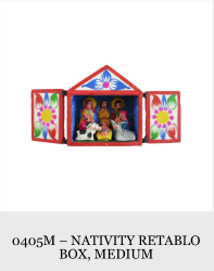 1 Piece Nativity Retablo Box (Medium)