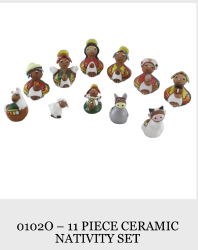 11 Piece Ceramic Nativity Set