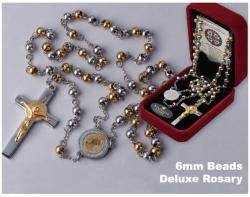 Stainless Steel, 6mm beads St. Benedict Rosary