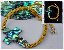 Sea Shell-Paua Adjustable Bracelet