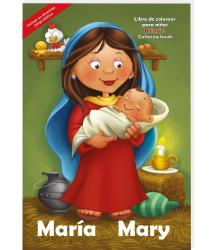 María - Mary (bilingual) Coloring - activity book