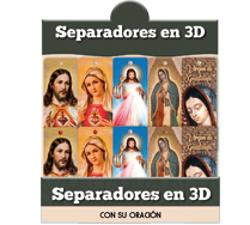 3D Bookmarks with catholic images (Spanish)