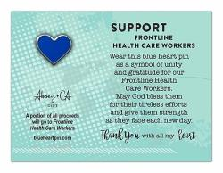 Blue Heart Lapel Pin