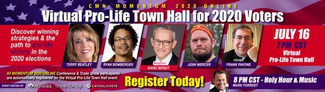 ProLife Town Hall CMN banner