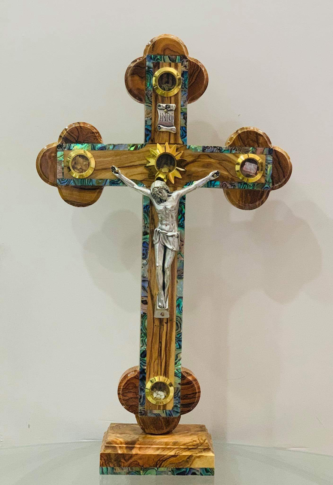 Wooden Crucifix with a stand