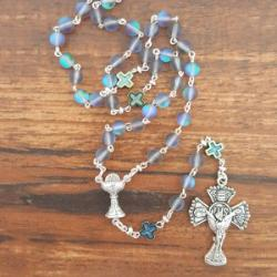 Imitation Labradorite First Communion Rosary