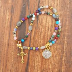 Mixed Stone Wrist Rosary