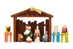 Nativity set 9 figurines and stable