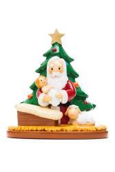 Santa Praying with Christmas tree