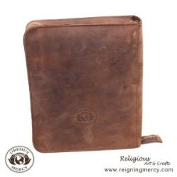 Leather Bible Cover with Zipper