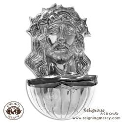 Jesus and the Crown of Thorns Holy Water Font (9? x 5.5?)