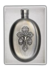 Indulgence Cross Holy Water Flask (3 oz)