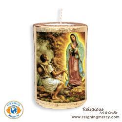 Saint Juan Diego Candle Art