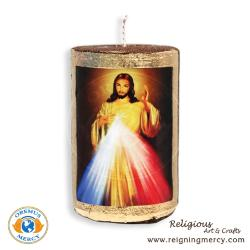 Divine Mercy Candle Art