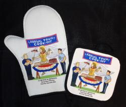 St. Michael Oven Mitt-Pot Holder Set