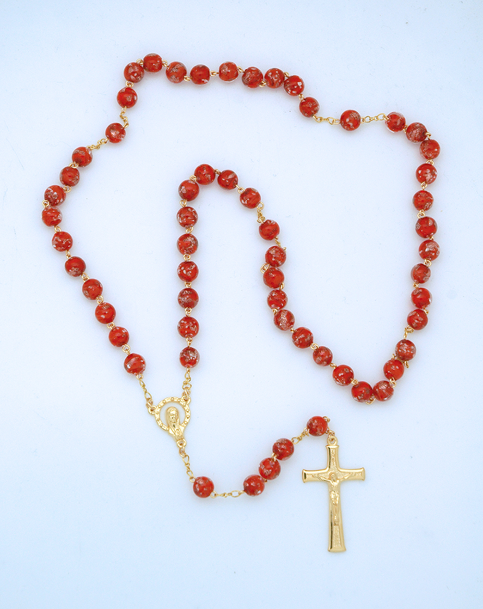 Red Glass Rosary