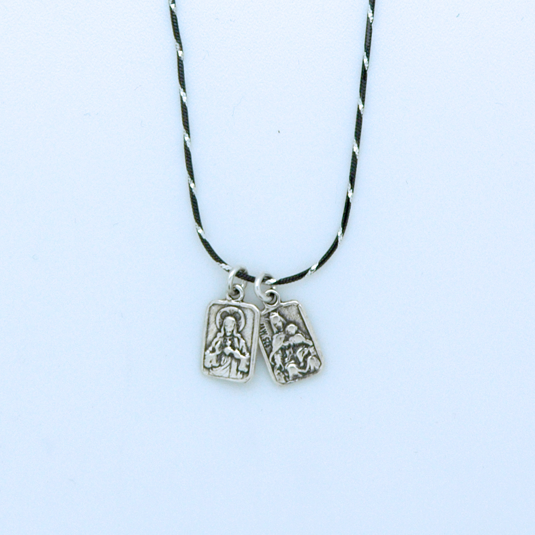 Sterling silver scapular necklace