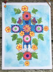 Adeline's Cross- original art print
