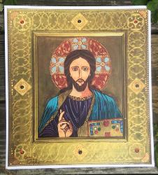 Christ Pantocrator - original art print