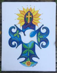 Cross of Peace - original art print
