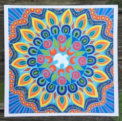 Fruits of the Holy Spirit Mandala - original art print