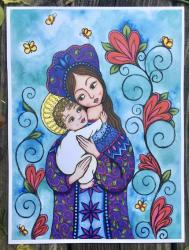Madonna and Child - Original Art Print