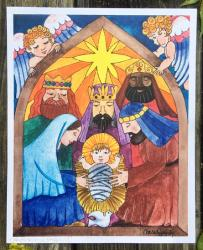 Nativity - Original Art Print
