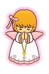 Baby girl angel fridge magnet