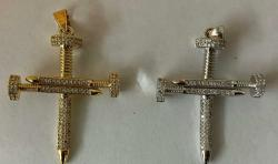 Gold/Silver Plated Nail Cross