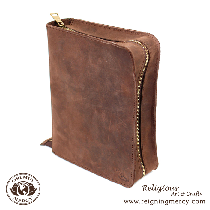 16-25-2b-leather-bible-case-with-zipper-front-view