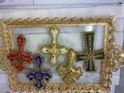 Beaded Fabric Decorative Cross