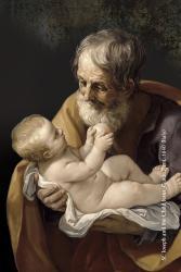 Joseph with Child Jesus Religious Window Sticker