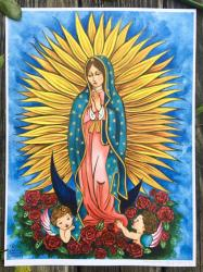 Our Lady of Guadalupe - Original Art Print