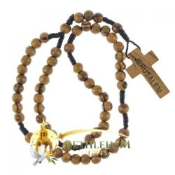 Wooden Holy Rosary Made in Jerusalem