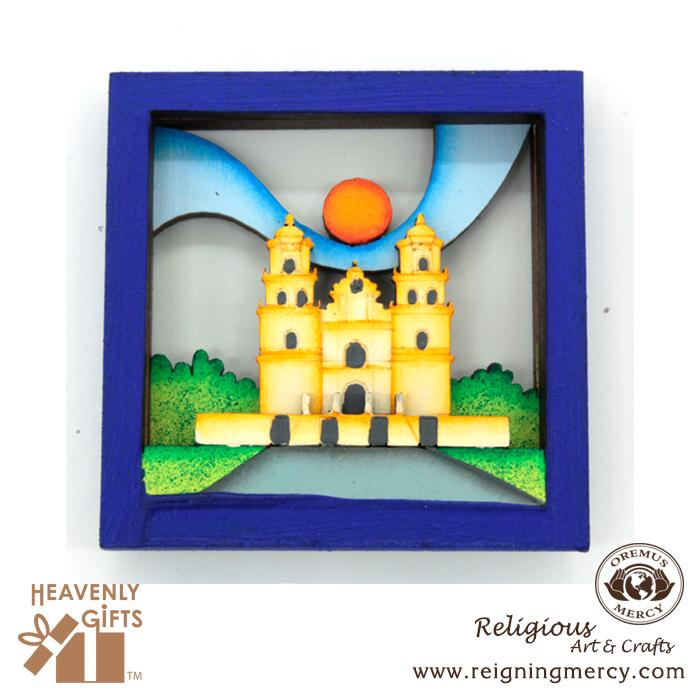 wooden-magnets-blue-frame-temple