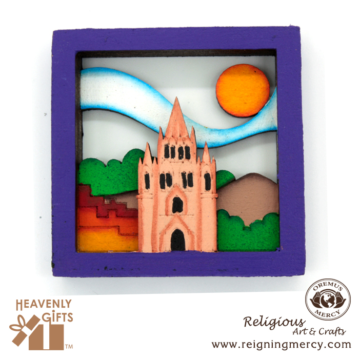wooden-magnets-purple-frame-virgin-mary