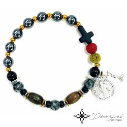 Saint Benedict Cross - Men's Historical Rosary Bracelet