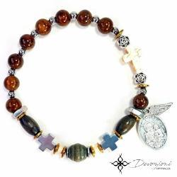 Saint Joseph - Men's Historical Rosary Bracelet