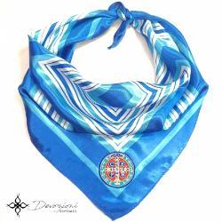 Saint Benedict Blue Scarf