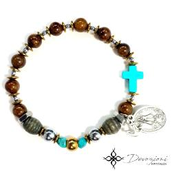 Virgin of Charity of El Cobre - Men's Historical Rosary Bracelet