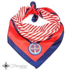Saint Benedict Red, White and Blue Scarf