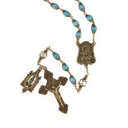 Creed Our Lady of Lourdes Vintage Rosary