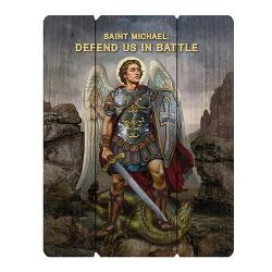 Wood Pallet Sign - Saint Michael