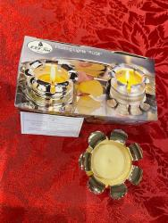 Silver Plated Floating Candle Holder by H.R.W Fink of Germany - Rose Shape