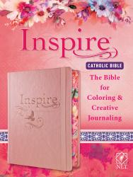 Inspire Catholic Bible NLT (Hardcover Leatherlike, Rose Gold)