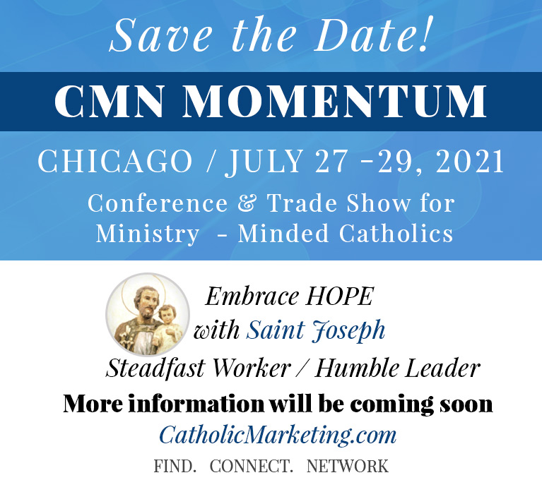 Catholic Marketing homepage Save the date mobile